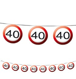 40-es sebességkorlátozó füzér