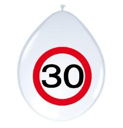 30-as sebességkorlátozó lufi, 8 db/csomag