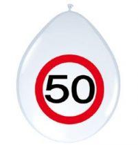 50-es sebességkorlátozó lufi, 8 db/csomag