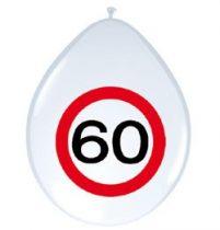 60-as sebességkorlátozó lufi, 8 db/csomag