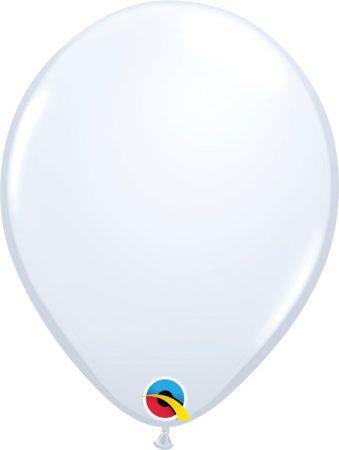 28 cm-es fehér gumi lufi, 1 db
