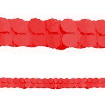 Piros papír girland, 3,6 méter