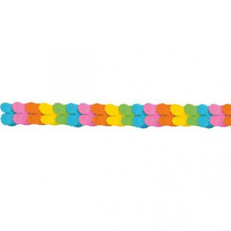 Vegyes színű papír girland, 3,6 méter