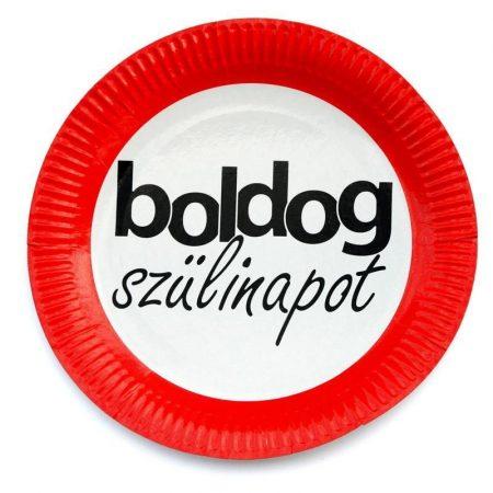 Sebességkorlátozó Boldog Szülinapot tányér, 6 db/csomag