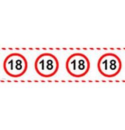 18-as sebességkorlátozó party szalag
