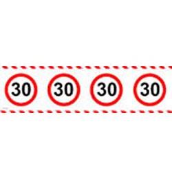30-as sebességkorlátozó party szalag