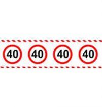 40-es sebességkorlátozó party szalag