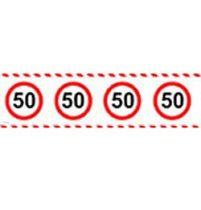 50-es sebességkorlátozó party szalag