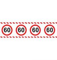 60-as sebességkorlátozó party szalag