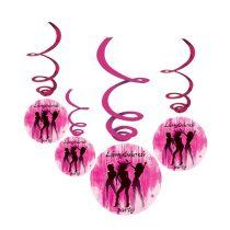 Lánybúcsú Party függődekoráció, 6 db/csomag