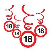 Sebességkorlátozó 18-as függődekoráció