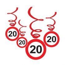 Sebességkorlátozó 20-as függődekoráció
