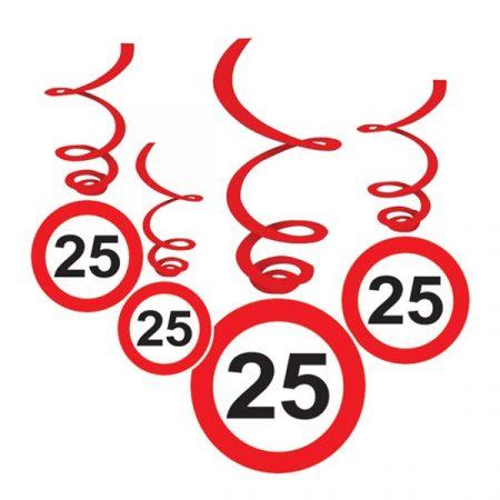 Sebességkorlátozó 25-ös függődekoráció