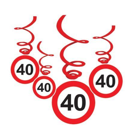 Sebességkorlátozó 40-es függődekoráció