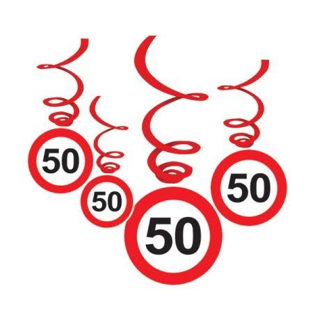 Sebességkorlátozó 50-es függődekoráció