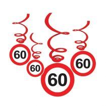 Sebességkorlátozó 60-as függődekoráció