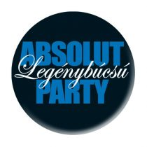 Absolut Legénybúcsú Party kitűző