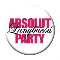 Absolut Lánybúcsú Party kitűző