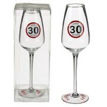 30-as sebességkorlátozó borospohár