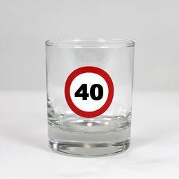 Sebességkorlátozó 40-es whiskey-s pohár