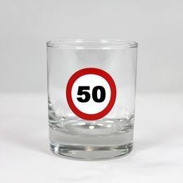 Sebességkorlátozó 50-es whiskey-s pohár