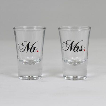 Mr. és Mrs. Feliratú Feles pohár Szett