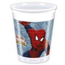 Pókember pohár, 8 db/csomag