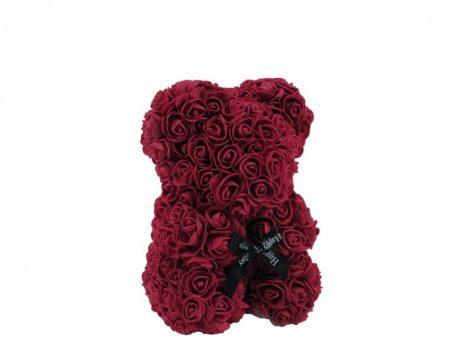 Rózsa maci bordó, 25 cm