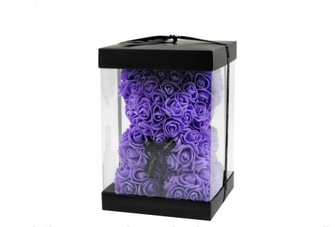 Rózsa maci lila, 25 cm