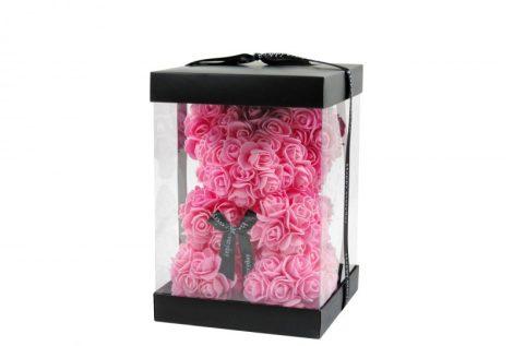 Rózsa maci rózsaszín, 25 cm