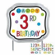 Happy Birthday számozható szülinapi tortadísz