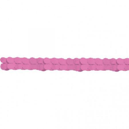 Rózsaszín papír girland, 3,6 méter