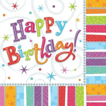 Radiant Happy Birthday szalvéta