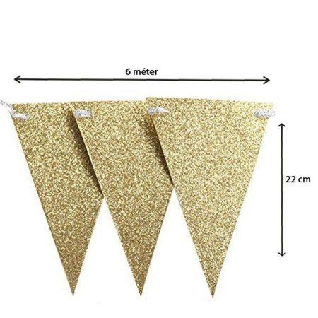 Csillogó arany zászlófüzér, 6 méter