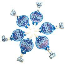 Kék Boldog Szülinapot anyósnyelv, 6 db/csomag