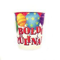 Léggömbös Boldog Szülinapot pohár, 6 db/csomag