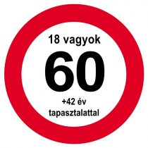 Nem vagyok 60... sebességkorlátozó tábla