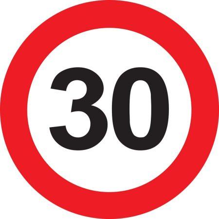 30-as sebességkorlátozó tábla