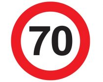 70-es sebességkorlátozó tábla