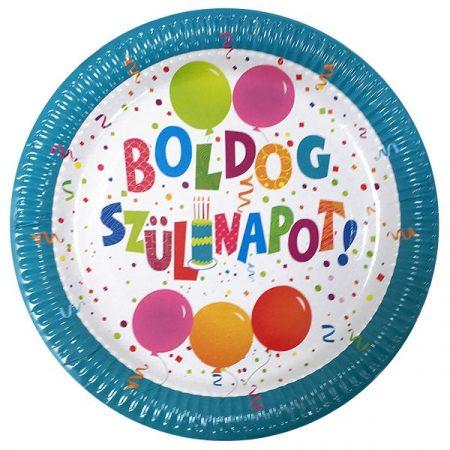 Jamboree Boldog Szülinapot tányér, 6 db/csomag