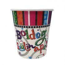 Radiant Boldog Szülinapot pohár, 6 db/csomag
