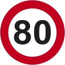 80-as sebességkorlátozó tábla