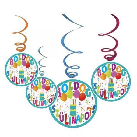 Jamboree Boldog Szülinapot függő dekoráció, 6 db/csomag
