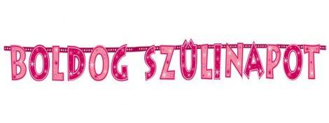Rózsaszín Boldog Szülinapot betűfüzér