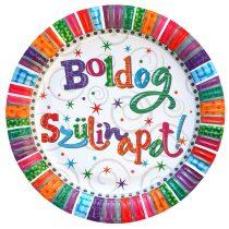 Radiant Boldog Szülinapot tányér, 6 db/csomag