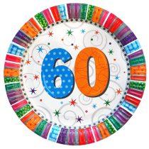 Radiant 60-as szülinapi tányér, 6 db/csomag