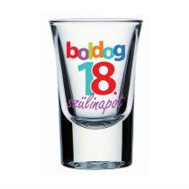 Boldog 18. Szülinapot feles pohár