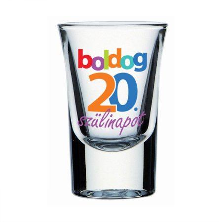 Boldog 20. Szülinapot feles pohár