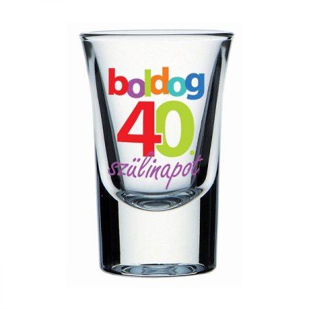 Boldog 40. Szülinapot feles pohár