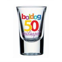 Boldog 50. Szülinapot feles pohár